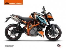 KTM Super Duke 990 Street Bike Crux Graphic Kit Orange Blue