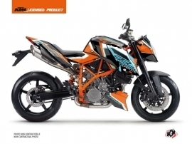 KTM Super Duke 990 R Street Bike Crux Graphic Kit Orange Blue