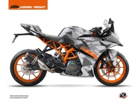 KTM 125 RC Street Bike Delta Graphic Kit Grey Orange
