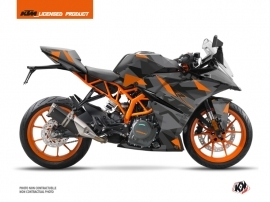 KTM 125 RC Street Bike Delta Graphic Kit Black Orange