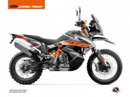 KTM 790 Adventure R Street Bike Delta Graphic Kit Grey Orange