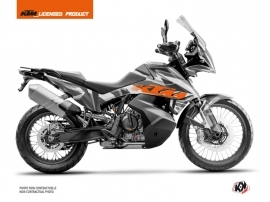 KTM 790 Adventure Street Bike Delta Graphic Kit Grey Orange