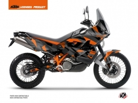 KTM 990 Adventure Street Bike Delta Graphic Kit Black Orange