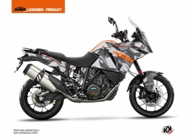 KTM 1190 Adventure Street Bike Delta Graphic Kit Grey Orange