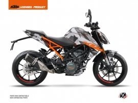 KTM Duke 125 Street Bike Delta Graphic Kit Grey Orange