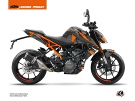 KTM Duke 390 Street Bike Delta Graphic Kit Black Orange