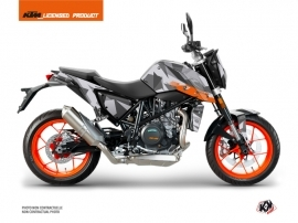 KTM Duke 690 R Street Bike Delta Graphic Kit Grey Orange