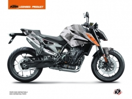 KTM Duke 790 Street Bike Delta Graphic Kit Grey Orange