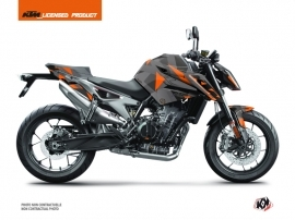 KTM Duke 790 Street Bike Delta Graphic Kit Black Orange