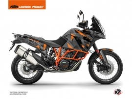 KTM 1290 Super Adventure R Street Bike Delta Graphic Kit Black Orange