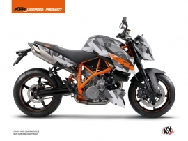Kit Déco Moto Delta KTM Super Duke 990 Gris Orange