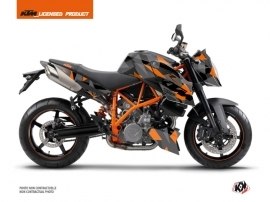 KTM Super Duke 990 Street Bike Delta Graphic Kit Black Orange