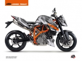KTM Super Duke 990 R Street Bike Delta Graphic Kit Grey Orange