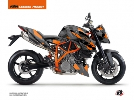 KTM Super Duke 990 R Street Bike Delta Graphic Kit Black Orange