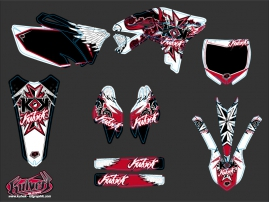 Kit Déco Moto Cross Demon Yamaha 250 YZF Rouge