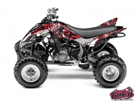 Yamaha 350 Raptor ATV Demon Graphic Kit Red