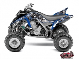 Yamaha 700 Raptor ATV Demon Graphic Kit Blue