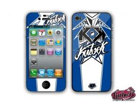 Kit Déco iPhone 4 Demon Bleu