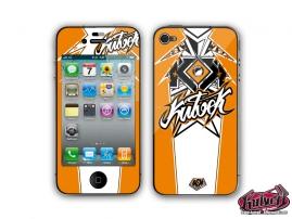 Kit Déco iPhone 4 Demon Orange