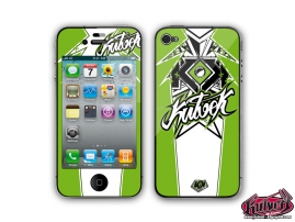 Kit Déco iPhone 4 Demon Vert