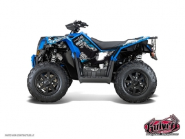 Kit Déco Quad Demon Polaris Scrambler 850-1000 XP Bleu FULL