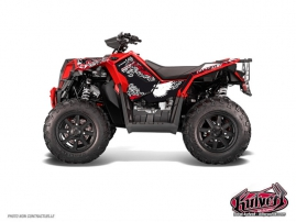 Kit Déco Quad Demon Polaris Scrambler 850-1000 XP Rouge FULL