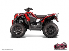 Kit Déco Quad Demon Polaris Scrambler 850-1000 XP Rouge