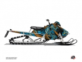Polaris Axys Snowmobile Dizzee Graphic Kit Blue