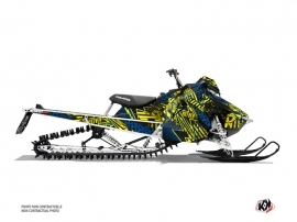 Polaris Axys Snowmobile Dizzee Graphic Kit Yellow
