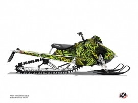 Polaris Axys Snowmobile Dizzee Graphic Kit Green