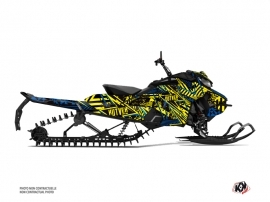 Skidoo Gen 4 Snowmobile Dizzee Graphic Kit Yellow