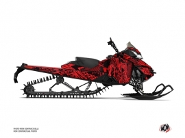 Skidoo REV XM Snowmobile Dizzee Graphic Kit Red