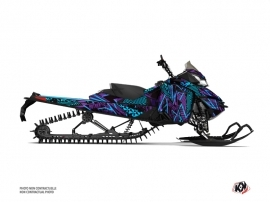 Skidoo REV XM Snowmobile Dizzee Graphic Kit Purple