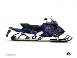 Kit Déco Motoneige Dizzee Skidoo REV XP Violet