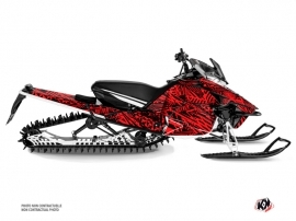 Yamaha Sidewinder Snowmobile Dizzee Graphic Kit Red