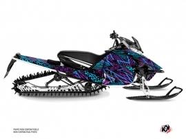 Yamaha Sidewinder Snowmobile Dizzee Graphic Kit Purple