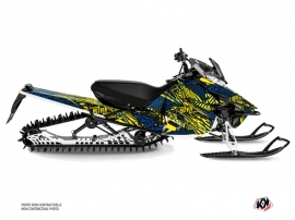 Yamaha SR Viper Snowmobile Dizzee Graphic Kit Yellow