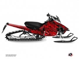 Yamaha SR Viper Snowmobile Dizzee Graphic Kit Red