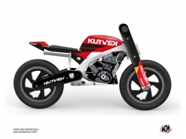 Balance Bike + KUTVEK US STYLE Graphic Kit Red Black
