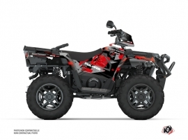 Polaris 570 Sportsman Forest ATV Elka Graphic Kit Grey Red