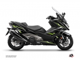 Kymco AK 550 Maxiscooter Energy Graphic Kit Black Green