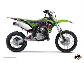 Kit Déco Moto Cross Eraser Kawasaki 110 KLX Vert