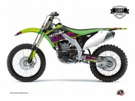Kit Déco Moto Cross Eraser Kawasaki 250 KX Vert LIGHT