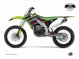 Kawasaki 125 KX Dirt Bike Eraser Graphic Kit Green LIGHT