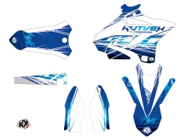 Yamaha 250 YZ Dirt Bike Eraser Graphic Kit Blue LIGHT