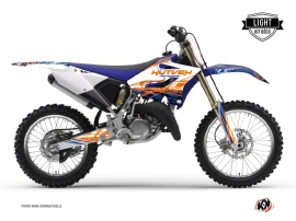 Kit Déco Moto Cross Eraser Yamaha 250 YZ Bleu - Orange LIGHT