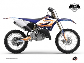 Yamaha 125 YZ Dirt Bike Eraser Graphic Kit Blue Orange LIGHT
