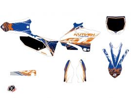 Kit Déco Moto Cross Eraser Yamaha 125 YZ Bleu Orange