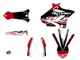 Kit Déco Moto Cross Eraser Yamaha 125 YZ Rouge Blanc LIGHT