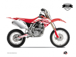 Kit Déco Moto Cross Eraser Honda 125 CR Blanc - Rouge LIGHT